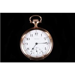"Waltham ""Royal"" Pocket Watch 17 jewels, SN:14145651, size 16, stem set, gold hinged case. In working"
