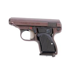Sterling Arms Mdl Pocket Cal .22LR SN:A46197, Single action semi auto pocket pistol. Blued finish, b