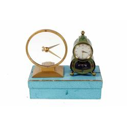 Art Deco Jefferson Golden Hour Electric Clock by Schatz & Sohne. German shelf clock, in original box