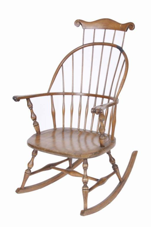 Shaker Style Antique Rocking Chair with damage to back. Needs to be  refinished. 43. Loading zoom - Shaker Style Antique Rocking Chair With Damage To Back. Needs To