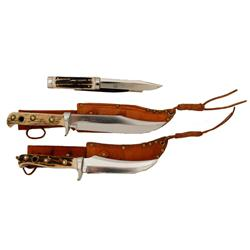 Lot of Three Puma Hunting Knives made in Germany, consisting of 1)Puma  Puma-Bowie  #6396 hunting kn