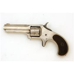 Remington Smoot Cal .30 SN:1981 Shows first type detachable recoil shield, nickel finish, hard rubbe