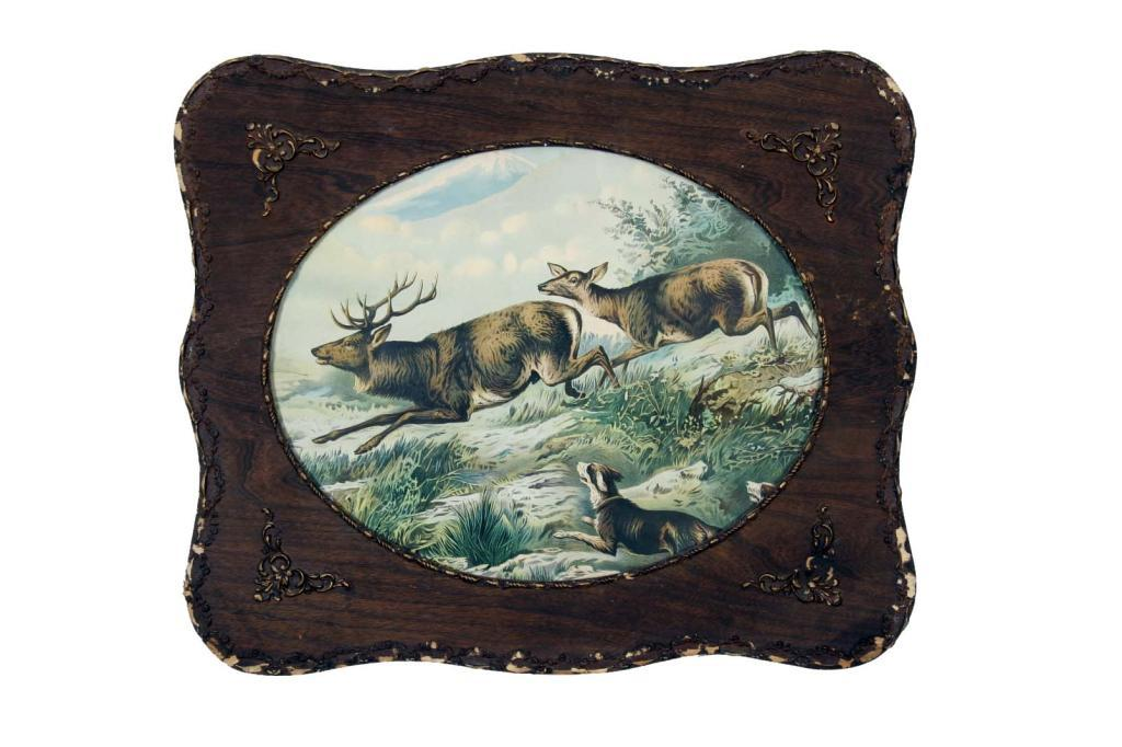 Collection of Two Antique Hunting Prints in oval frames 19\