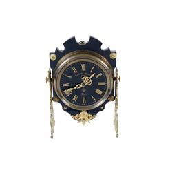 Systeme Brevete Clock Very fine French porcelain dial, brass mantle clock, circa 1890, in excellent