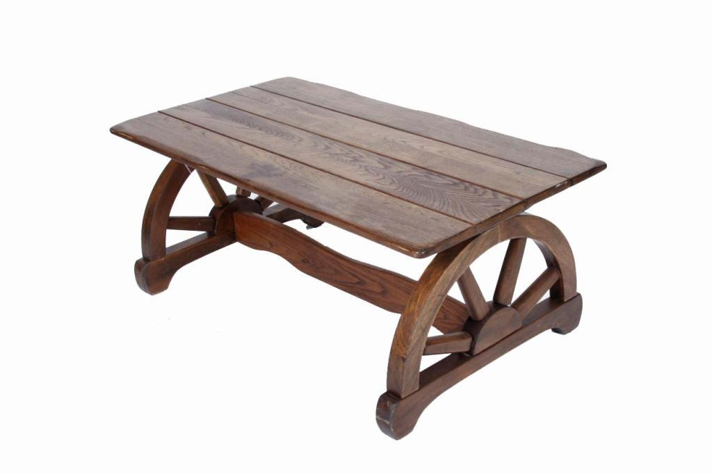 Oak Wagon Wheel Western Coffee Table Measures 40 L X 22 W X 16 Hmeasures 40  L X 22. Loading Zoom