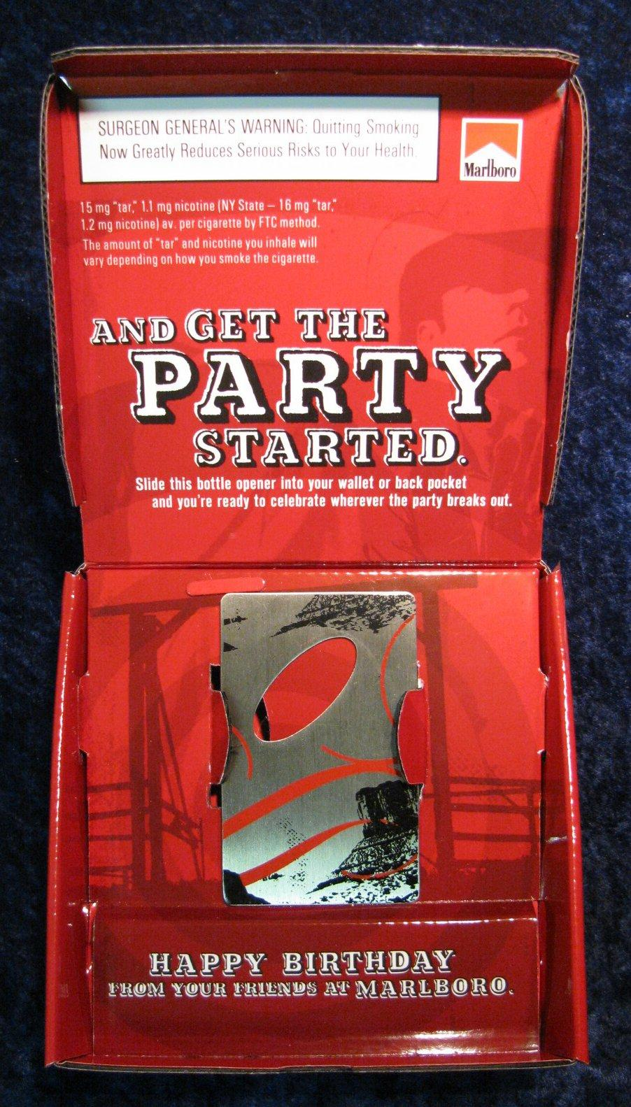 267. Marlboro Bottle Opener Birthday Gift. In Original Package.