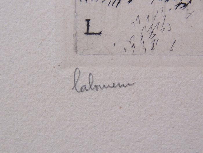 J.E.LABOUREUR H.Signed Etching French 1932