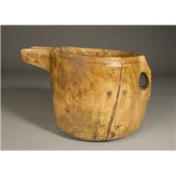 Hand Carved Primitive Treenware Pitcher