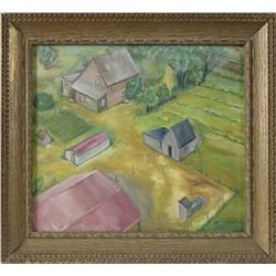 Oil Painting on Board, Signed Paldanius, Dated '66