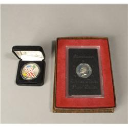 1999 Painted Silver Eagle & Eisenhower Proof