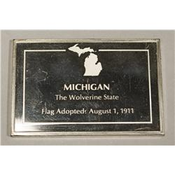 1000 Grain Michigan Sterling Art Bar Ingot