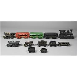 12 Vintage Cast Iron Train Articles