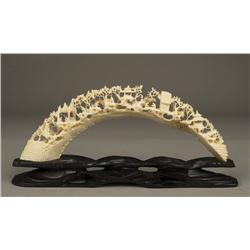 Exceptional 20th C. Chinese Ox Bone Carving