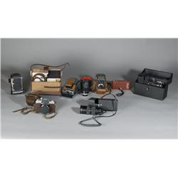 Grouping of Vintage Cameras & Accessories