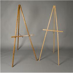 2 A-Frame Wooden Easels