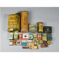 Large Collection of Antique Tins & Boxes