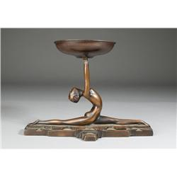 Art Deco Bronze Style Candle Holder