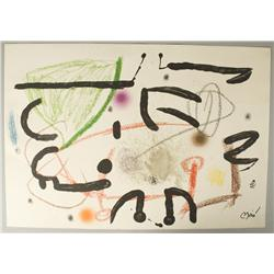 Joan Miro Lithograph on Paper Board