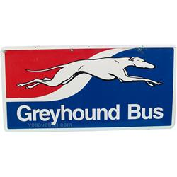 Greyhound Bus Double Sided Tin Sign - 48  x 24