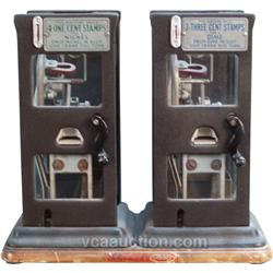 Double Cast-Iron & Glass Stamp Vending Machines