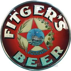Fitger's Beer Duluth Reverse Glass Sign