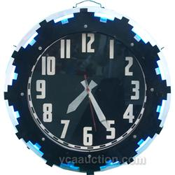 "Large Wall Mount Clock w/ Neon - 27"" diam"