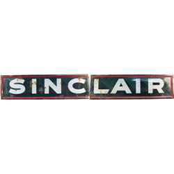 "Large 2-Piece ""Sinclair Gas"" Porcelain Sign c1920's"