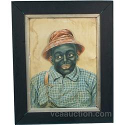 Old Black Americana Moveable Wind-Up Print,