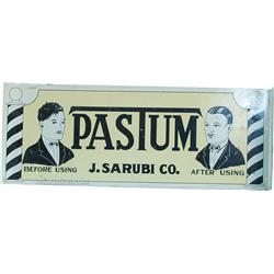 Pastum J. Sarubi Co. Double Sided Flange Tin Sign -