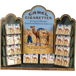 Camel Cigarettes Store Countertop Tin Display,