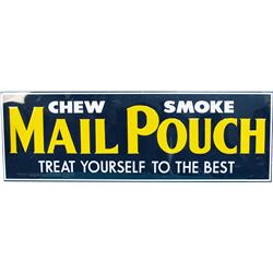Mail Pouch Tobacco Embossed Tin Sign