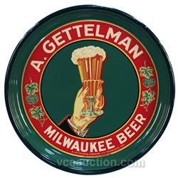 A. Gettelman Brewing Co. Milwaukee, WIS. Round Tin Serv