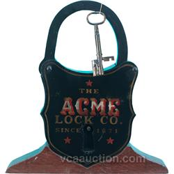 Very Large Cast-Iron  Acme Lock Co.  Store Window Displ