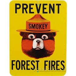 Smokey The Bear Wooden Sign,