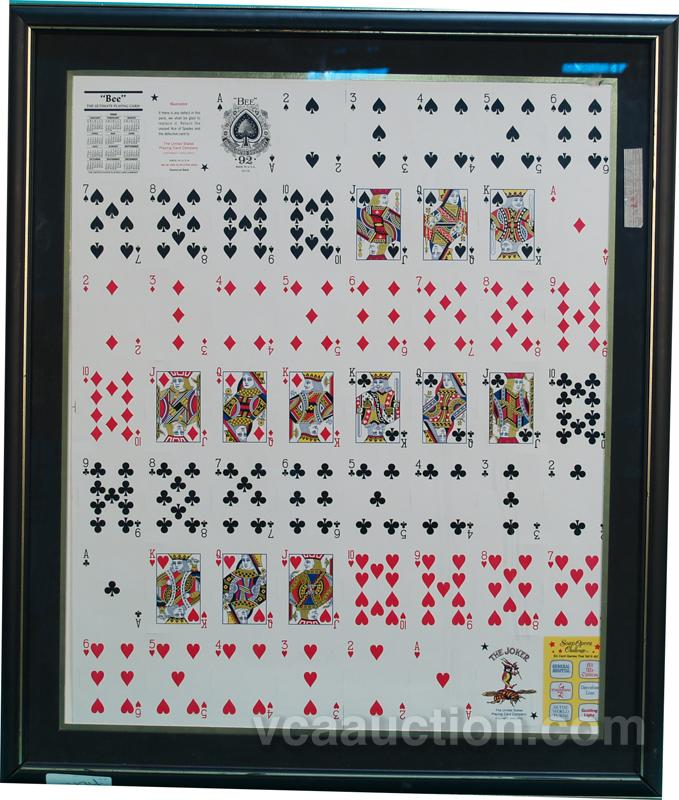 Bee Uncut Playing Cards In Frame 27 X 31