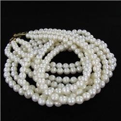 White Saltwater Pearl Three Strand Necklace (JEW-250C)