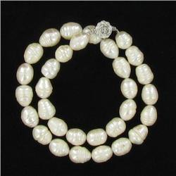 Saltwater Baroque White Pearl Necklace (JEW-250R)