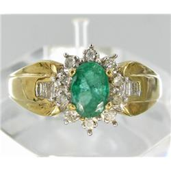 .65ct Colombian Emerald & Diamond 10k Gold Ladies Ring (JEW-1770)