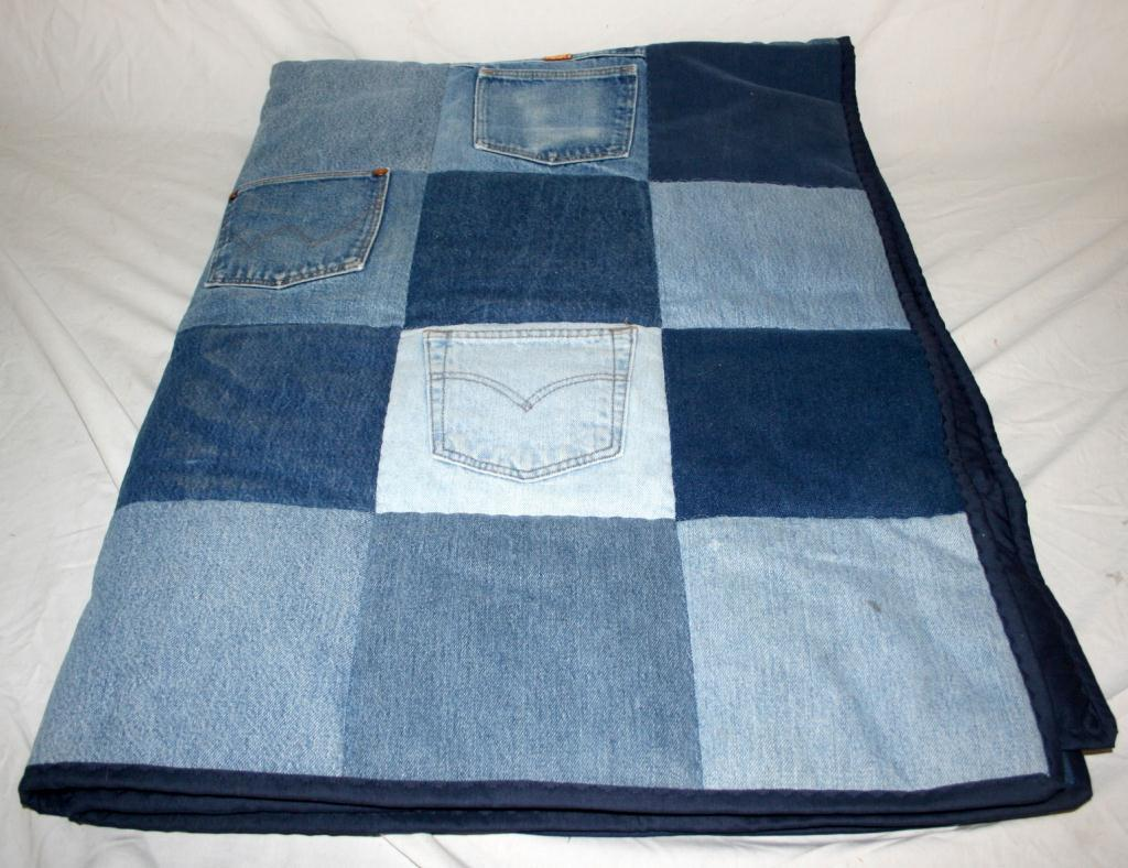 denim cropped quilts quiltedsunshine pattern quilt waves full new