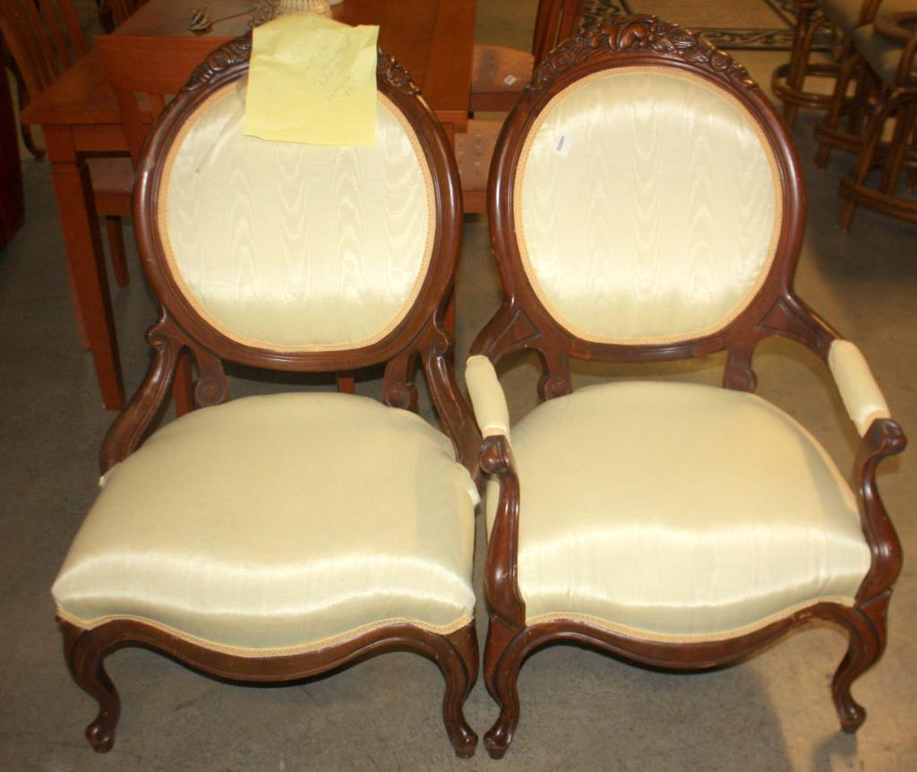 Image 1 : Set of 2 Antique Victorian Chairs - Set Of 2 Antique Victorian Chairs