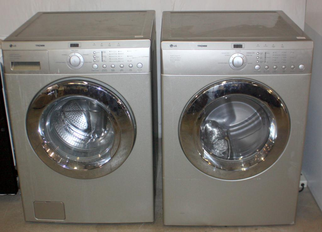image 1 lg silver front loaders washer and gas dryer