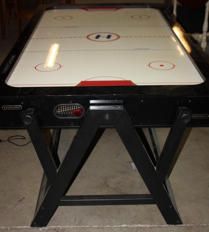 Image 1 : Harvard Air Hockey Game W/Flip Over For Pool Table ...