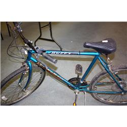 Green Huffy Rockslide 10 Speed Mountain Bike