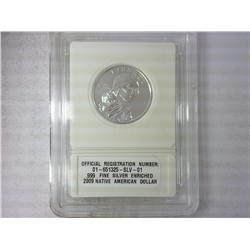2009 Native American Dollar .999 Silver Enriched