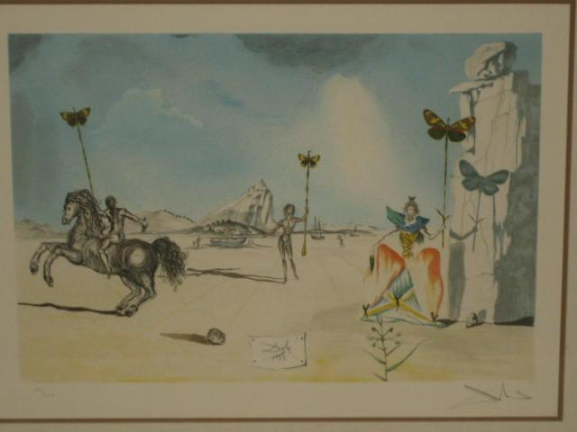Pencil signed Salvador Dali lithograph 25/300