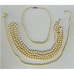 Collection of Pearl Necklaces