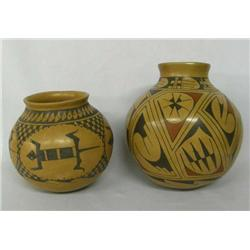 Two Mata Ortiz Pottery by Bugarini and Karen