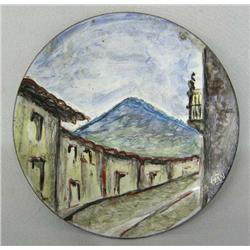 Hand painted Copper Plate Hallmarked HW