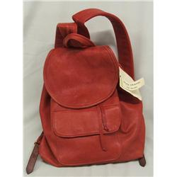 Max Hand Red Deerskin Backpack Purse