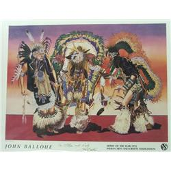 1992 Signed Poster of John Balloue Print